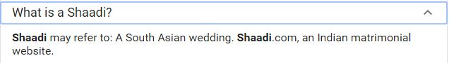Shaadi Definition